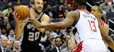 Spurs can't keep up with Wall, Wizards