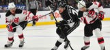 Kings give up 3 goals in 68 seconds, lose to Devils