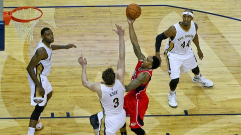 Feb 2, 2015; New Orleans, LA, USA; XXXX during the second quarter of a game at the Smoothie King Center. Mandatory Credit: Derick E. Hingle-USA TODAY Sports