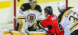 Bruins can't hold off Flames, fall in OT