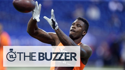Feb 21, 2015; Indianapolis, IN, USA; Missouri Tigers wide receiver Dorial Green-Beckham catches a pass during the 2015 NFL Combine at Lucas Oil Stadium. Mandatory Credit: Brian Spurlock-USA TODAY Sports