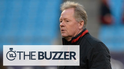 CHARLOTTE, NC - DECEMBER 30:  Head coach Bobby Petrino of the Louisville Cardinals watches his team warm up before a game against the Georgia Bulldogs at the Belk Bowl at Bank of America Stadium on December 30, 2014 in Charlotte, North Carolina.  (Photo by Grant Halverson/Getty Images)