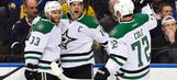 Benn nets 1st career hat trick in Stars' win