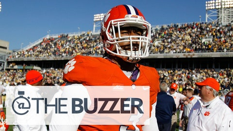 Nov 15, 2014; Atlanta, GA, USA; Clemson Tigers defensive end Vic Beasley (3) after a game against the Georgia Tech Yellow Jackets in the fourth quarter at Bobby Dodd Stadium. Georgia Tech defeated Clemson 28-6. Mandatory Credit: Brett Davis-USA TODAY Sports