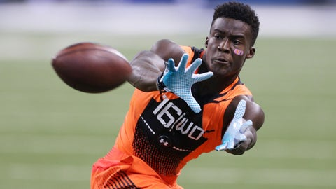 Feb 21, 2015; Indianapolis, IN, USA; Miami Hurricanes wide receiver Phillip Dorsett catches a pass during the 2015 NFL Combine at Lucas Oil Stadium. Mandatory Credit: Brian Spurlock-USA TODAY Sports