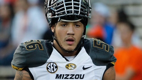 Oct 18, 2014; Gainesville, FL, USA; Missouri Tigers defensive lineman Shane Ray (56) prior to the game against the Florida Gators at Ben Hill Griffin Stadium. Mandatory Credit: Kim Klement-USA TODAY Sports