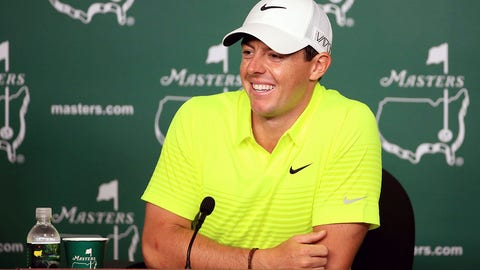 AUGUSTA, GA - APRIL 07:  Rory McIlroy of Northern Ireland speaks to the media during a practice round prior to the start of the 2015 Masters Tournament at Augusta National Golf Club on April 7, 2015 in Augusta, Georgia.  (Photo by David Cannon/Getty Images)