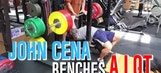 WWE's John Cena benches a lot