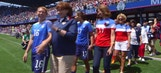 US Women's National Team joined by Moms on Mother's Day