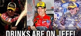 Jeff Gordon Has Received A LOT of Booze This Year