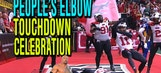 Watch this 'The People's Elbow' touchdown celebration