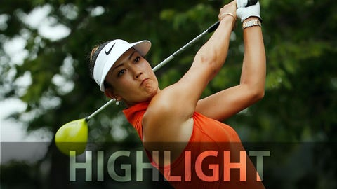 LANCASTER, PA - JULY 12:  Michelle Wie of the United States hits her tee shot on the second  hole during the final round of the U.S. Women's Open at Lancaster Country Club on July 12, 2015 in Lancaster, Pennsylvania  (Photo by Scott Halleran/Getty Images)
