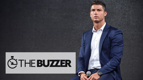 Portuguese professional footballer Cristiano Ronaldo attends a promotional event during a visit to Tokyo on July 7, 2015.  AFP PHOTO / KAZUHIRO NOGI        (Photo credit should read KAZUHIRO NOGI/AFP/Getty Images)