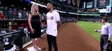 Tyson Chandler throws out first pitch