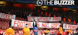 Arsenal faithful support Bayern fans' protest at the Emirates