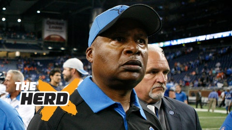 Sep 27, 2015; Detroit, MI, USA; Detroit Lions head coach Jim Caldwell walks off the field after the game against the Denver Broncos at Ford Field. The Broncos win 24-12. Mandatory Credit: Raj Mehta-USA TODAY Sports