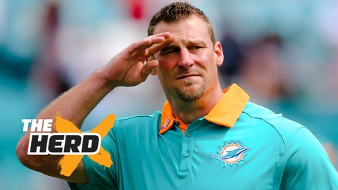 Oct 25, 2015; Miami Gardens, FL, USA; Miami Dolphins head coach Dan Campbell looks on prior to the game against the Houston Texans at Sun Life Stadium. Mandatory Credit: Steve Mitchell-USA TODAY Sports