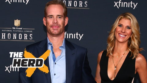 Jan 31, 2015; Phoenix, AZ, USA; Television sports announcer Joe Buck and Michelle Beisner on the red carpet prior to the NFL Honors award ceremony at Symphony Hall. Mandatory Credit: Mark J. Rebilas-USA TODAY Sports