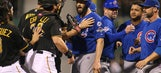 A huge scrum broke out but Jake Arrieta isn't mad about it