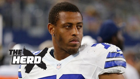 Aug 29, 2015; Arlington, TX, USA; Dallas Cowboys defensive end Greg Hardy (76) on the sidelines during the game against the Minnesota Vikings at AT&T Stadium. Minnesota won 28-14. Mandatory Credit: Tim Heitman-USA TODAY Sports