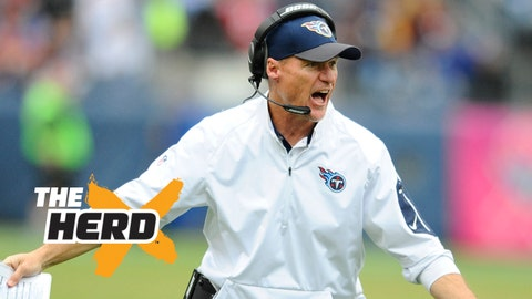 Oct 25, 2015; Nashville, TN, USA; Tennessee Titans head coach Ken Whisenhunt during the first half against the Atlanta Falcons at Nissan Stadium. Mandatory Credit: Christopher Hanewinckel-USA TODAY Sports