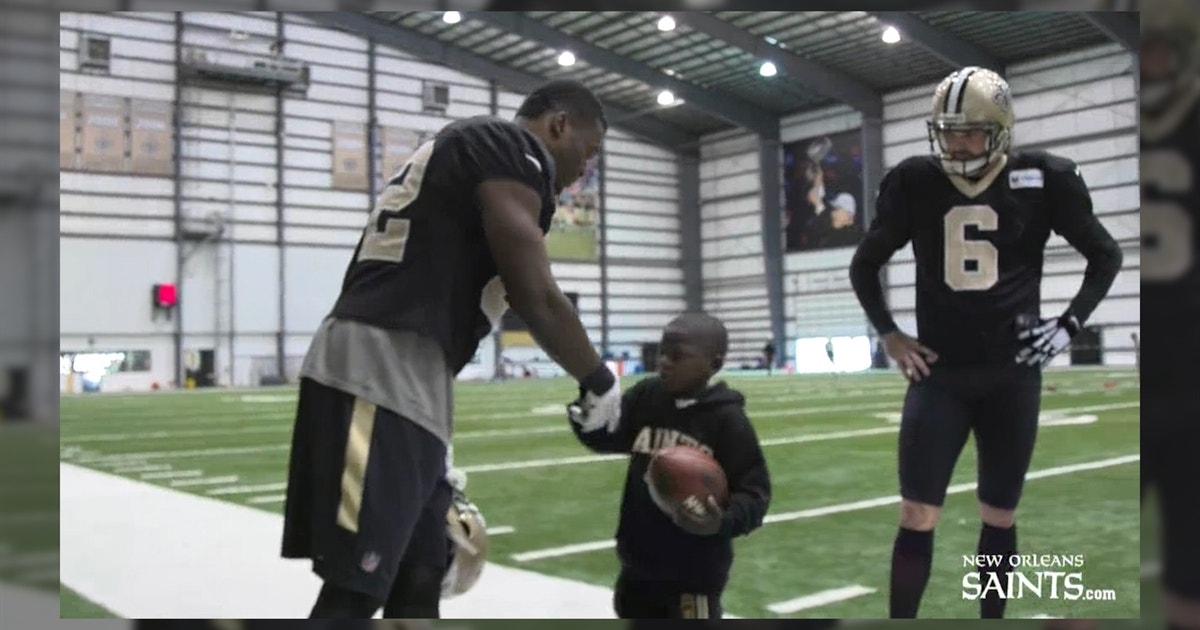 Saints invite little kid to practice after hospital visit went viral ... f13484d53
