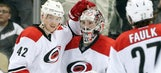 Two first-period goals push 'Canes past Penguins