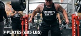 Watch a beast of a man squat 685 pounds with no hands on the bar