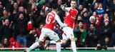 Chambers curls one in to give the Gunners 1-0 lead against Burnley | 2015-16 FA Cup Highlights