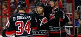Kris Versteeg's two goals lead Hurricanes past Flames