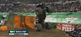 Max-D backflips in Indy freestyle – 2016 Monster Jam
