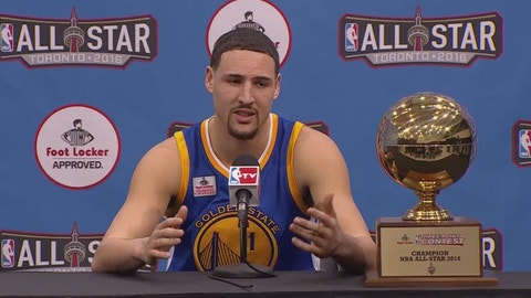 Klay Thompson will defend his Three-Point Contest title