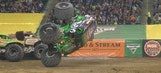 Grave Digger pulls incredible save in Detroit freestyle – 2016 Monster Jam