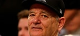 Bill Murray supports his son on the Xavier coaching staff
