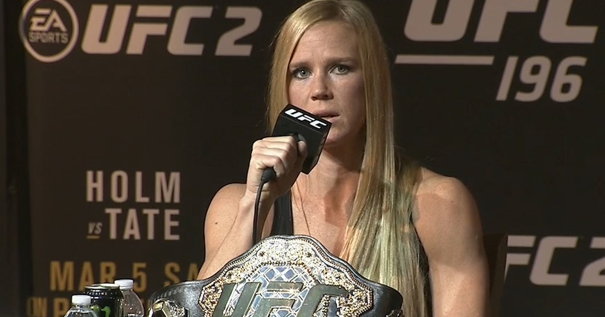 Holly Holm wasn't about to wait around for Ronda Rousey
