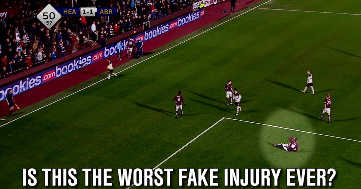 Is this the worst fake injury in the history of soccer?