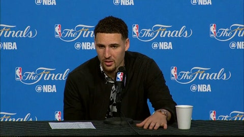 Klay Thompson has words for LeBron James after Game 4 of the 2016 Finals