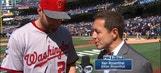 Daniel Murphy speaks before the 2016 MLB All-Star Game