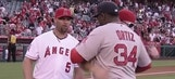 Trout, Pujols honor David Ortiz with pregame painting
