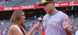 Giancarlo Stanton calls celebrating with Ichiro an awesome moment