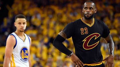 The Cavs and the Warriors top the list