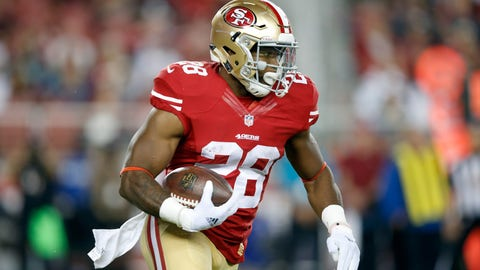 Carlos Hyde, RB, 49ers (shoulder): Questionable
