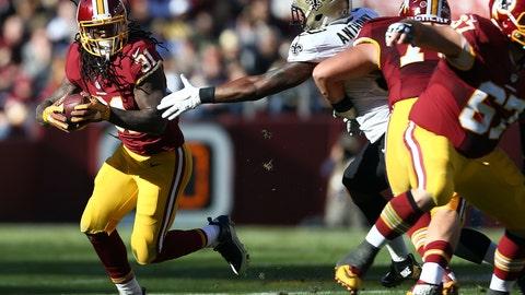 November 19: Washington Redskins at New Orleans Saints, 1 p.m. ET