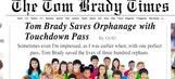 We have the first look at Tom Brady's new newspaper