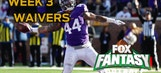 Fantasy Football: Week 3 waiver wire targets