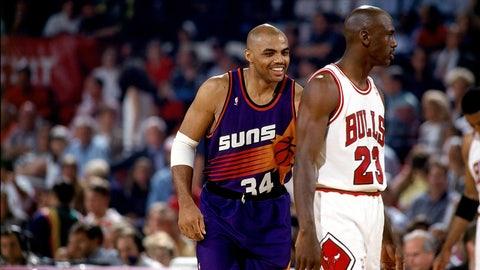 Playoff year No. 8 (Jordan: 1993; James: 2013)