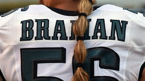 Braman's ponytail goes halfway down his back