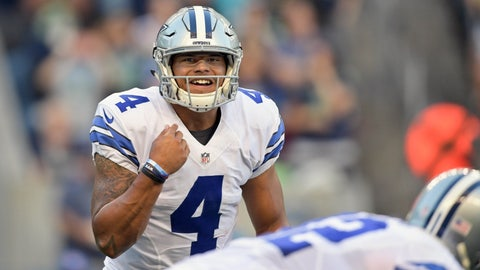 Dak Prescott, Cowboys (2nd last week)