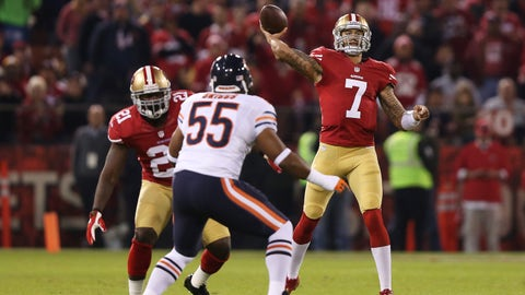 Leading 49ers to 32-7 win over Bears in first start