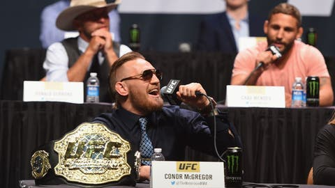 Challenging the entire roster at UFC 'Go Big' Presser